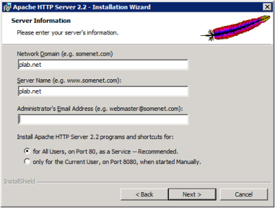 Apache Server Information