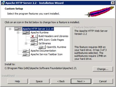Apache Setup Type