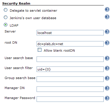 Jenkins Security Realm