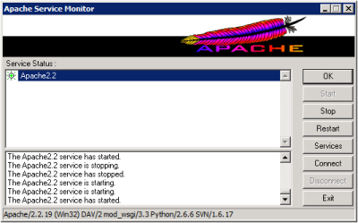 Apache Service Monitor with Subversion