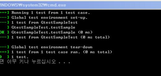 googletest Sample Test