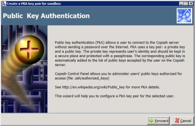 Copssh - Create a PKA key pair