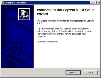 Copssh Setup - Welcome
