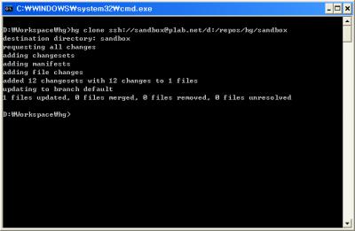Mercurial - Clone Repository Through SSH