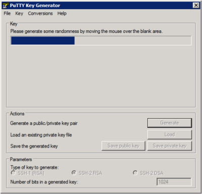 Putty Key Generator - Generate Key