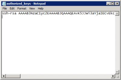 authorized_keys file