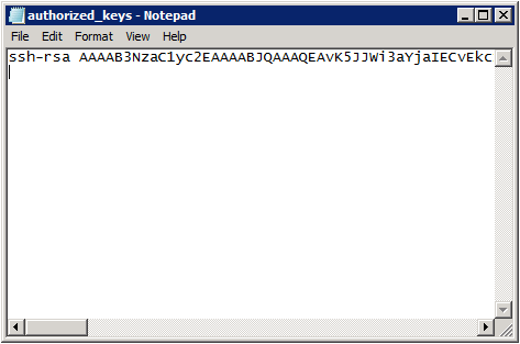 authorized_keys file