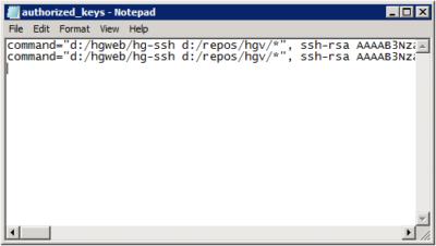 hg-ssh: Multiple Keys