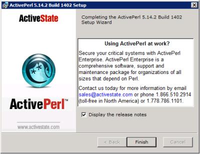 ActivePerl Setup - Installation Complete
