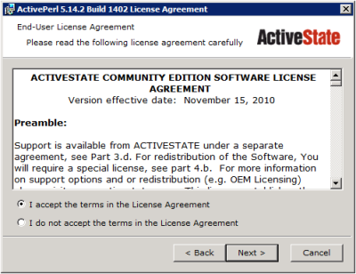 ActivePerl Setup - License