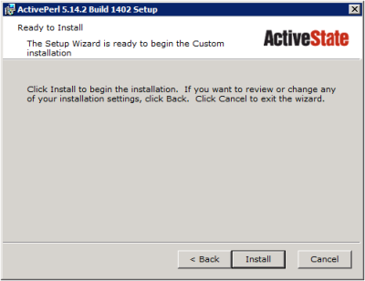 ActivePerl Setup - Ready to Install