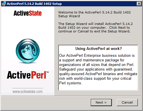 ActivePerl Setup - Welcome