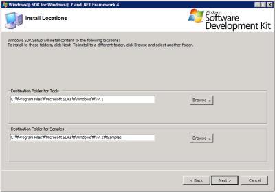 Windows SDK - Install Location