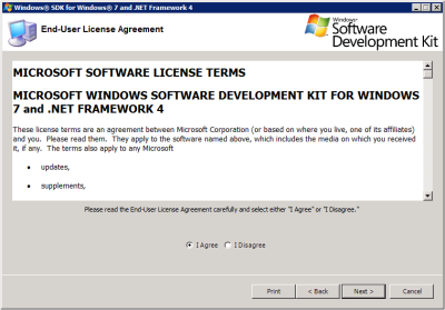 Windows SDK Setup - License