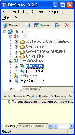 BitKinex 실행 화면